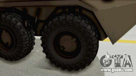 BTR-80 Desert Turkey for GTA San Andreas back view