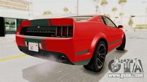 GTA 5 Vapid Dominator v2 SA Lights for GTA San Andreas left view
