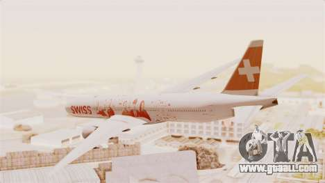 Boeing 777-300ER Faces of SWISS Livery for GTA San Andreas left view