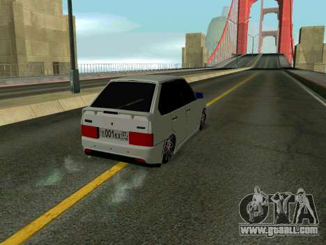VAZ 2114 KBR for GTA San Andreas inner view