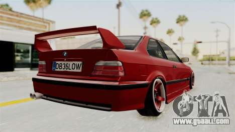 BMW 325i E36 Coupe for GTA San Andreas back left view