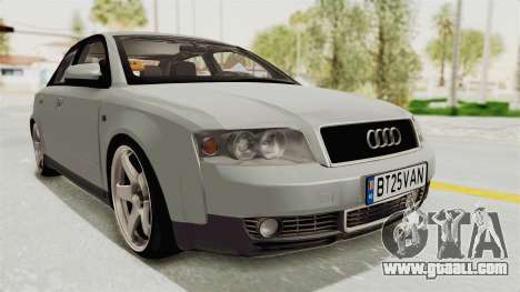 Audi A4 2002 Stock for GTA San Andreas back left view