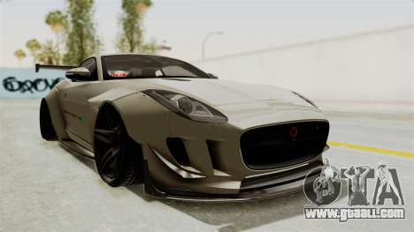 Jaguar F-Type L3D Store Edition for GTA San Andreas right view