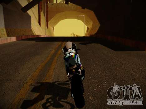 Yamaha YZR M1 2016 Rainbow Dash for GTA San Andreas right view