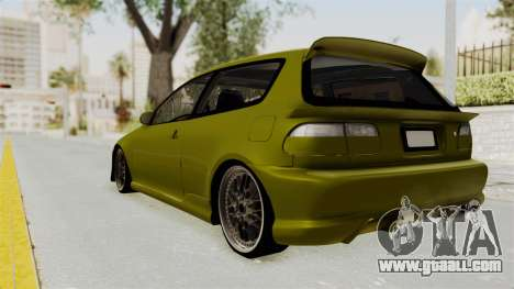 Honda Civic Fast and Furious for GTA San Andreas left view