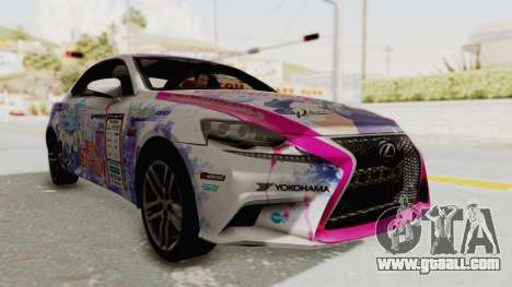 Lexus IS350 FSport Megami no Aqua for GTA San Andreas