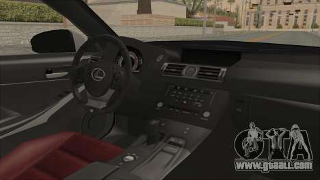 Lexus IS350 FSport Megami no Aqua for GTA San Andreas inner view