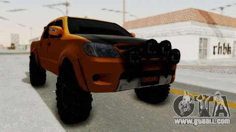 Toyota Hilux 2010 Off-Road Swag Edition for GTA San Andreas back left view