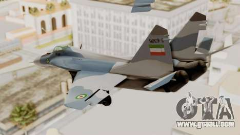 MIG-29A IRIAF for GTA San Andreas right view