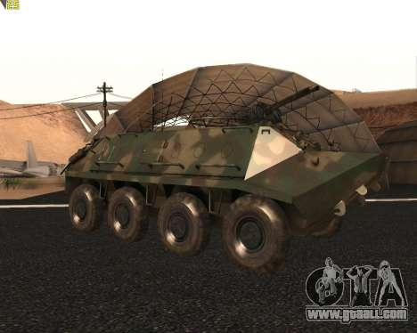BTR 60 PA for GTA San Andreas back view