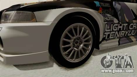 Mitsubishi Lancer Evolution VI Tenryuu Itasha for GTA San Andreas back view