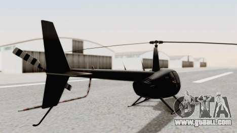 Helicopter de la Policia Nacional del Paraguay for GTA San Andreas back left view