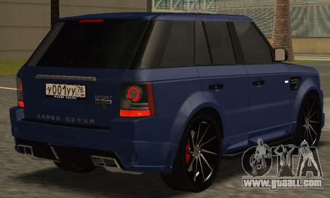Range Rover Sport Tuning for GTA San Andreas left view