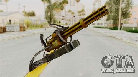 Minigun Gold for GTA San Andreas