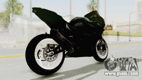 Kawasaki Ninja 250R Black Cobra RnB Anak Jalana for GTA San Andreas back left view