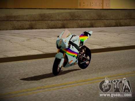 Yamaha YZR M1 2016 Rainbow Dash for GTA San Andreas