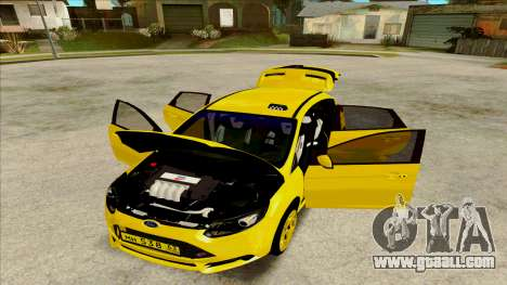 Ford Focus Taxi for GTA San Andreas back left view