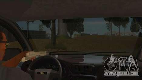 Chevrolet TrailBlazer for GTA San Andreas inner view