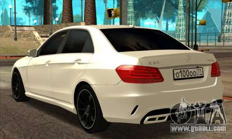 Mercedes-Benz E63 AMG 2014 for GTA San Andreas back left view