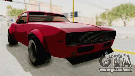 Chevrolet Camaro SS 1968 for GTA San Andreas back left view