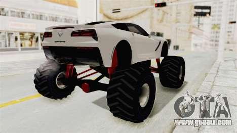 Chevrolet Corvette Stingray C7 Monster Truck for GTA San Andreas left view