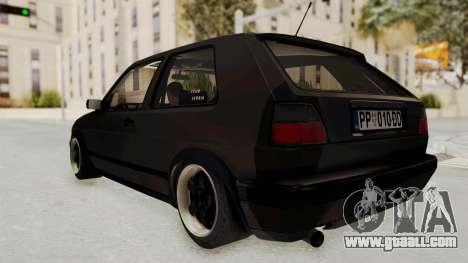 Volkswagen Golf 2 VR6 for GTA San Andreas right view