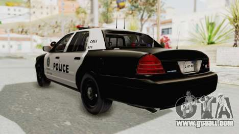 Ford Crown Victoria SFPD for GTA San Andreas left view
