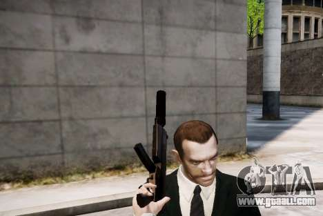 The silencer on the weapon for GTA 4 third screenshot