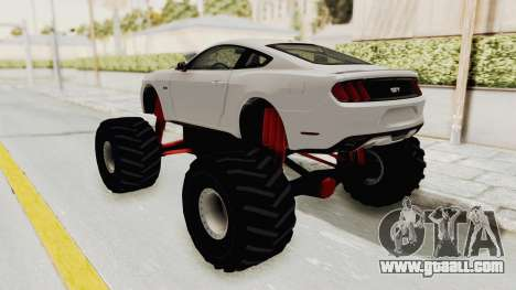 Ford Mustang GT 2015 Monster Truck for GTA San Andreas back left view
