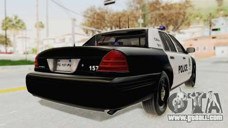 Ford Crown Victoria SFPD for GTA San Andreas back left view
