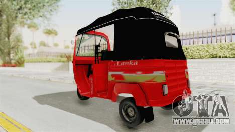 Sri Lanka Three Wheeler Taxi for GTA San Andreas left view