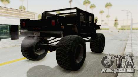 Hummer H1 Monster Truck TT for GTA San Andreas left view