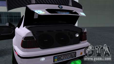 BMW M3 E46 JDM for GTA San Andreas back view