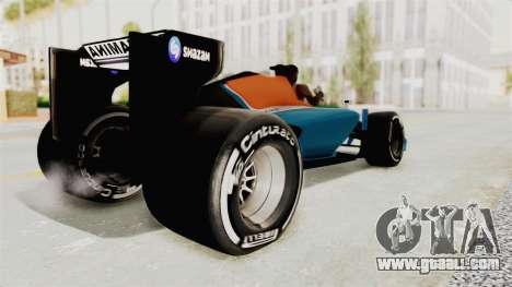Rio Haryanto 88 F1 Manor Racing for GTA San Andreas left view