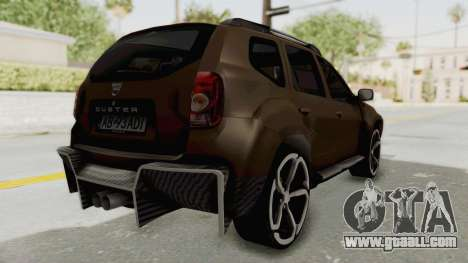 Dacia Duster 2010 Tuning for GTA San Andreas back left view