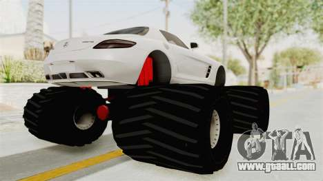 Mercedes-Benz SLS AMG 2010 Monster Truck for GTA San Andreas back left view