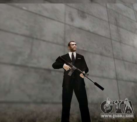 The silencer on the weapon for GTA 4 forth screenshot