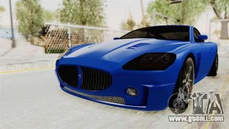 GTA 5 Ocelot F620 IVF for GTA San Andreas back left view