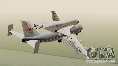 Boeing 747-123 Space Shuttle Carrier for GTA San Andreas right view