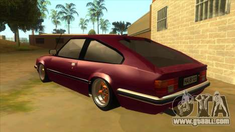 Opel Monza A1 for GTA San Andreas back left view