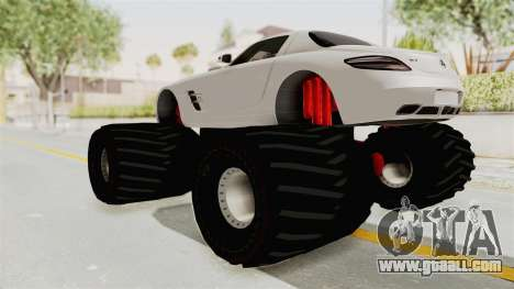 Mercedes-Benz SLS AMG 2010 Monster Truck for GTA San Andreas left view