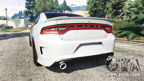 GTA 5 Dodge Charger SRT Hellcat 2015 v1.3 rear left side view