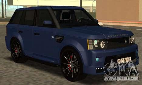 Range Rover Sport Tuning for GTA San Andreas