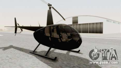Helicopter de la Policia Nacional del Paraguay for GTA San Andreas right view