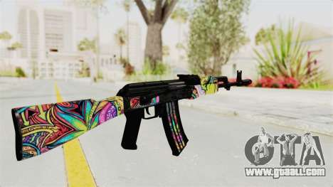 AK-47 Cannabis Camo for GTA San Andreas second screenshot