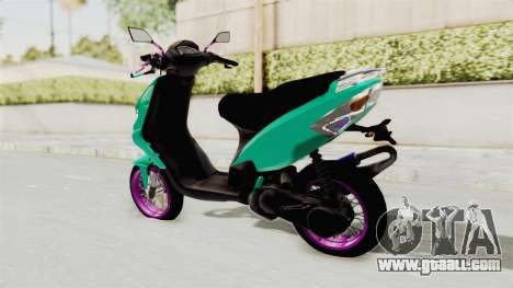 Piaggio 200 CC Lockstyle for GTA San Andreas right view