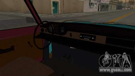 Wartburg 353 Rat Style for GTA San Andreas inner view