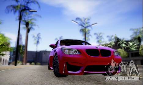 BMW M5 E60 Huracan for GTA San Andreas left view