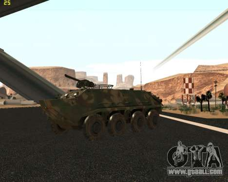 BTR 60 PA for GTA San Andreas inner view