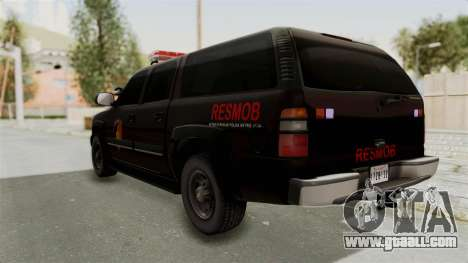 Chevrolet Suburban Indonesian Police RESMOB Unit for GTA San Andreas left view